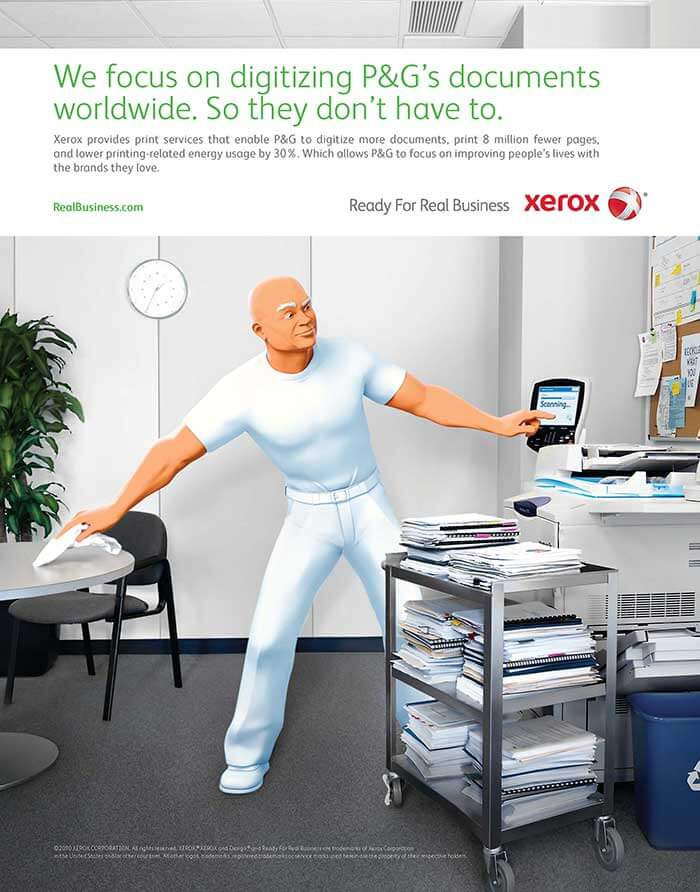 In 2010, Xerox completed the switch from a copier company to a business services company