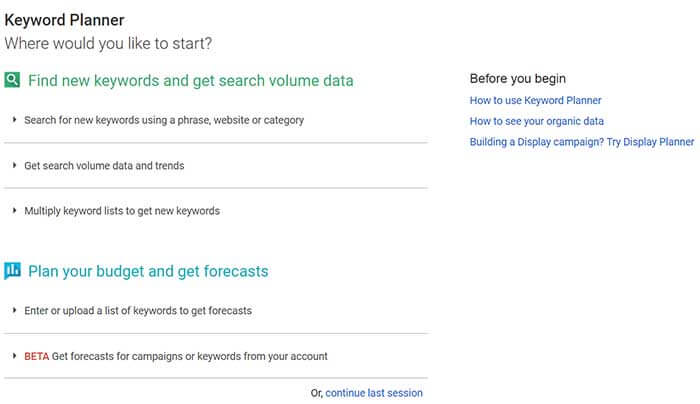 Make it a habit – to research keywords using Google's standard tools