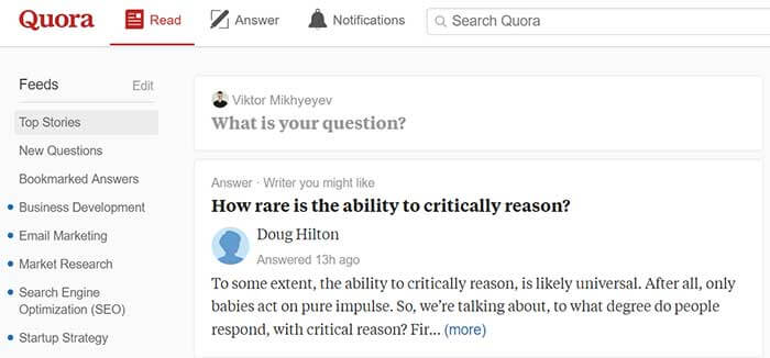 Websites like Quora are always in the search for experts in various fields