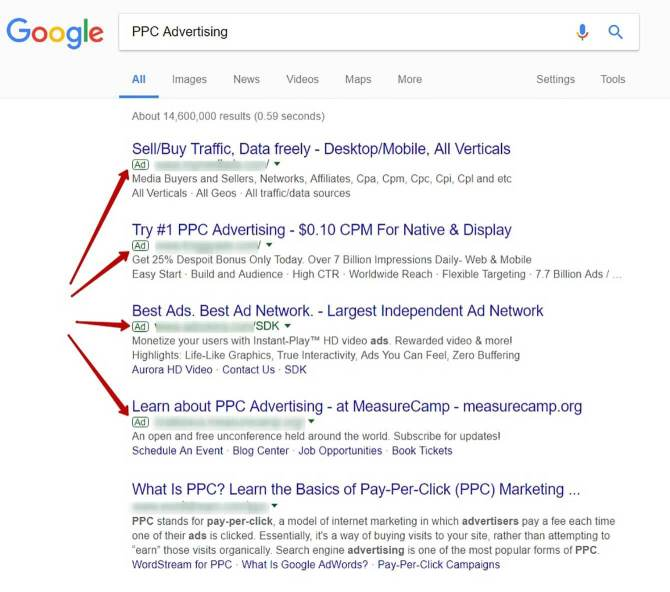 Google AdWords is the sole reason for the existence of Google and a source of 90% of its profits